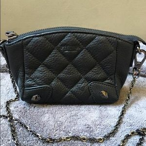 Quilted leather Perlina purse